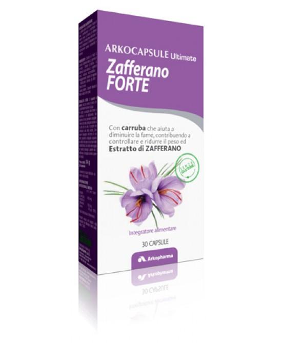 Arkopharma Arkocapsule Ultimate Zafferano Forte Integratore Alimentare 30 Capsule