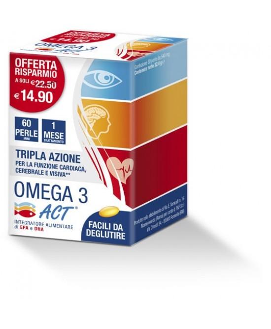 Omega 3 Act Integratore Alimentare 60 Perle 540mg - Iltuobenessereonline.it