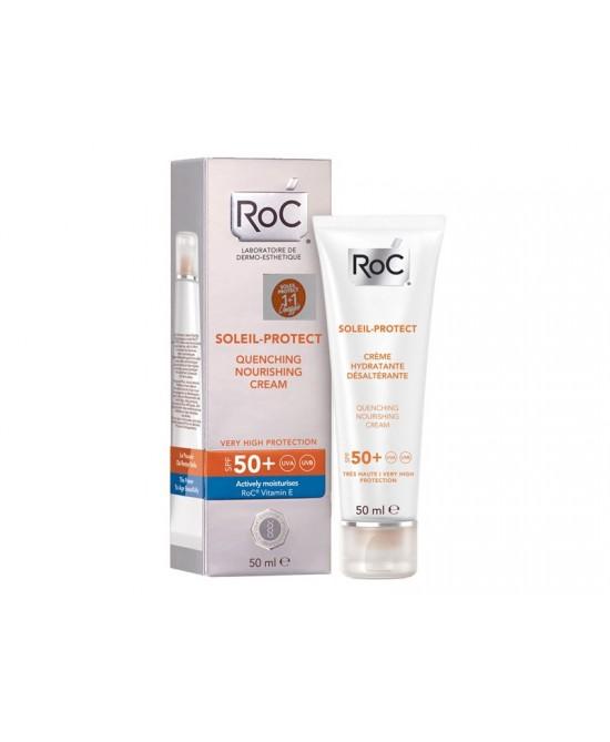 Roc Solari Crema Viso Nutriente Protezione SPF50+ 50ml - Farmaconvenienza.it