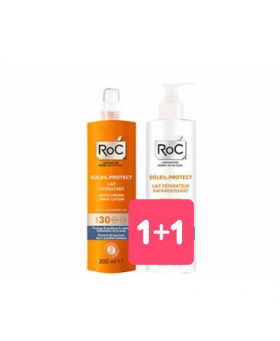 ROC SOLARI SOLEIL PROTECTION + LOZIONE SPRAY CORPO IDRATANTE SPF30 200 ML - Antica Farmacia Del Lago