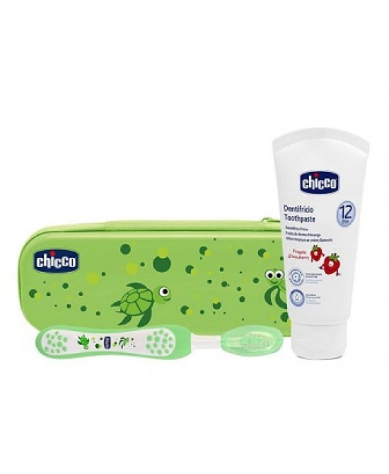 Chicco Set Dentale Verde Fluoro - Farmalandia