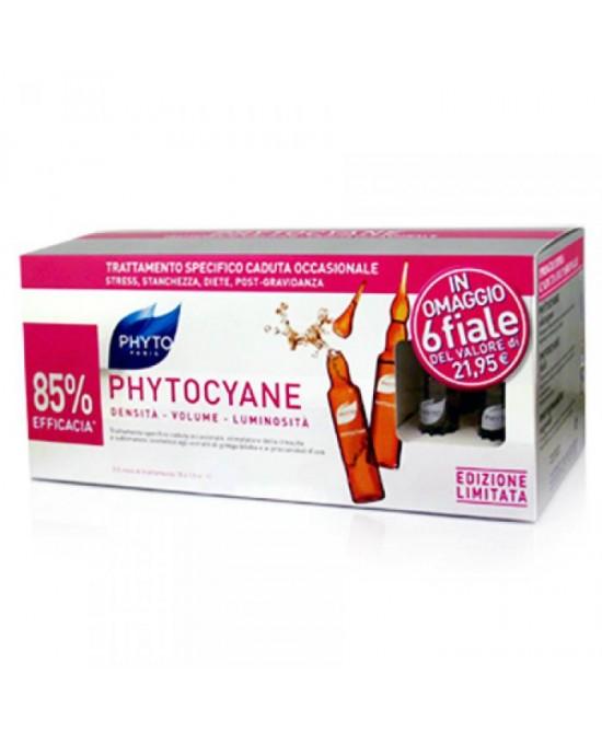 Phyto Phytocyane Trattamento Anti-Caduta Donna 12 Fiale Da 7.5ml + 6 In Omaggio