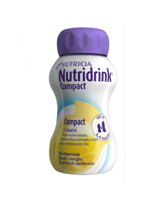 NUTRIDRINK COMPACT VANIGLIA 125 ML 4 PEZZI - Farmafamily.it