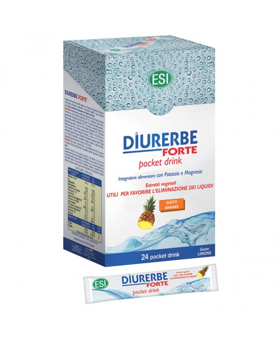 Esi Diurerbe Forte 24 Pocket Drink Gusto Ananas - Farmaconvenienza.it