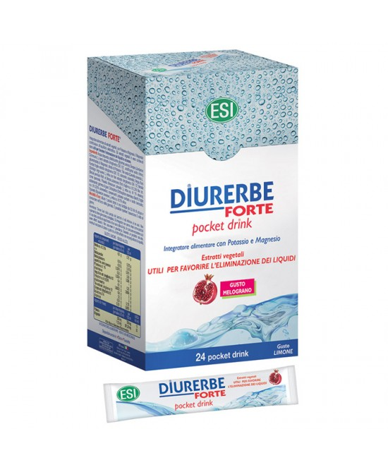 Esi Diurerbe Forte 24 Pocket Drink Gusto Melograno - Farmaconvenienza.it