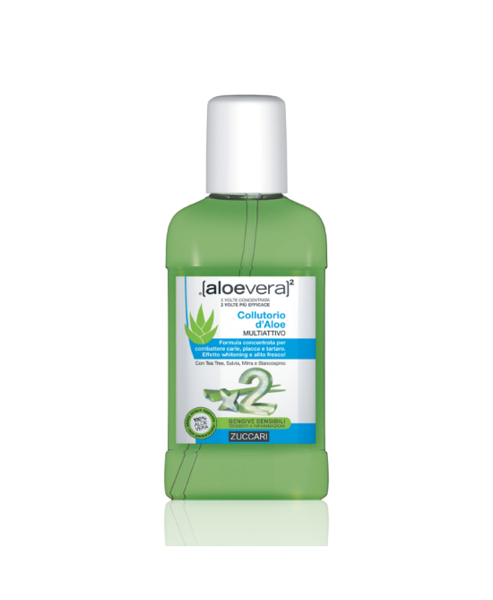 Zuccari Aloevera2 Collutorio D'Aloe Multi Attivo 250ml - Farmafamily.it