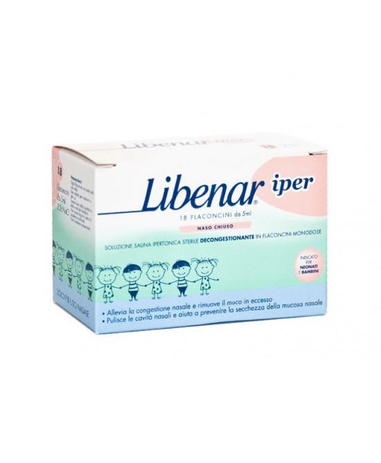 Libenar Iper Soluzione Salina Ipertonica Sterile Decongestionante 15 Flaconcini Monodose Da 5ml - Farmastar.it