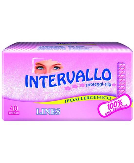 Lines Intervallo Salvaslip Ipoallergenico Ripiegato 40 Salvaslip - Antica Farmacia Del Lago