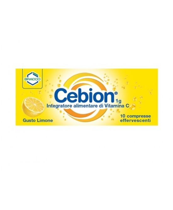 Bracco Cebion 1g Integratore Alimentare Di Vitamina C Gusto Limone 10 Compresse Effervescenti - Farmastar.it