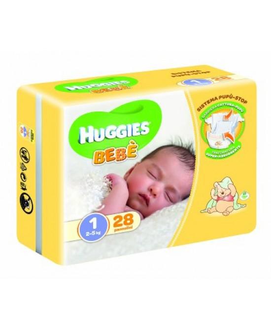 Huggies Bebè Pannolino Base Taglia 1 (2-5kg) 28 Pezzi - Farmafamily.it
