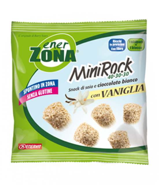 Enervit EnerZona MiniRock 40-30-30 Snack Di Soia E Cioccolato Bianco Con Vaniglia Senza Glutine 24g - Farmafamily.it