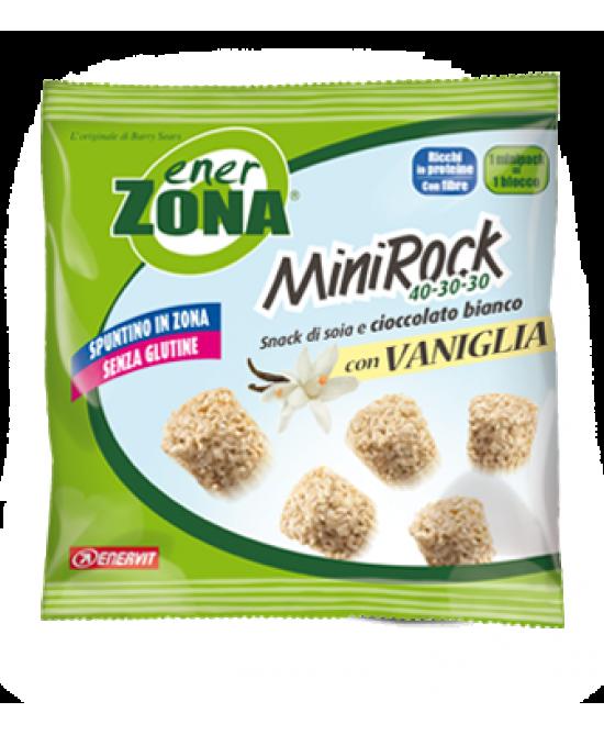 EnerZona Enervit MiniRock 40-30-30 Con Vaniglia Senza Glutine 24g - Parafarmacia la Fattoria della Salute S.n.c. di Delfini Dott.ssa Giulia e Marra Dott.ssa Michela