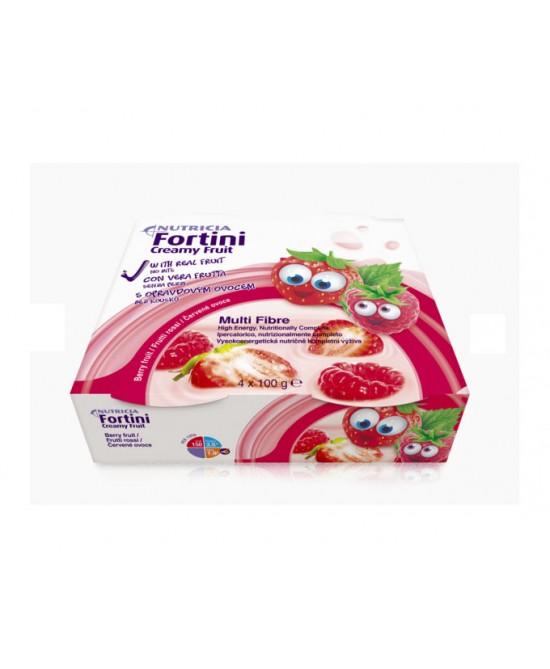 FORTINI CREAMY FRUIT MULTI FIBRE FRUTTI ROSSI 4X100 G - Farmalilla
