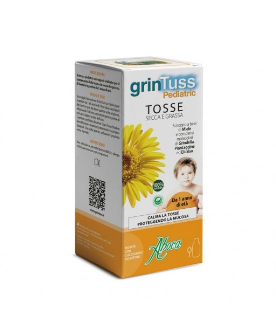Aboca GrinTuss Pediatric Sciroppo 180g - Farmacia Giotti