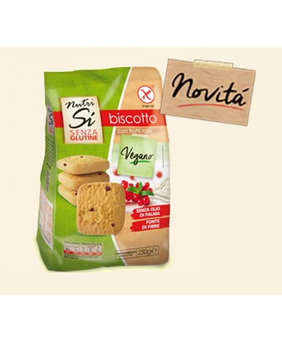 Nutrisi' Biscotti Con Frutti Rossi Senza Glutine Vegano 250g - FARMAEMPORIO