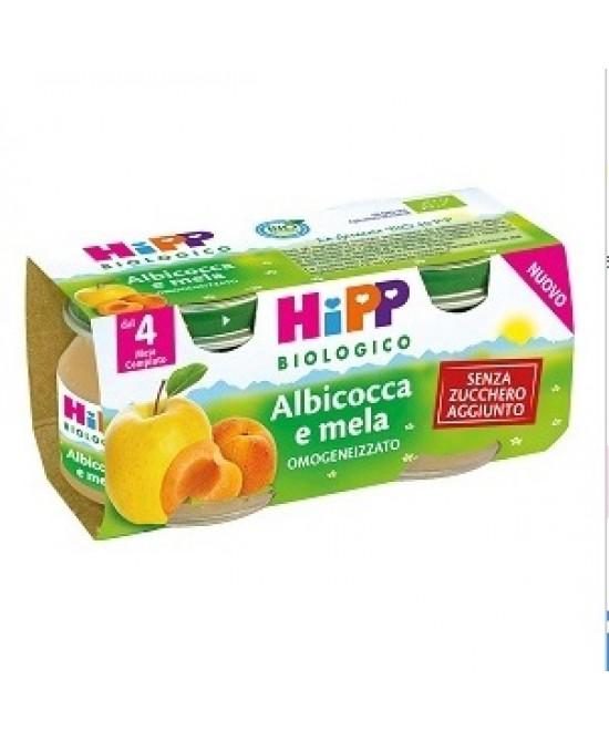 HiPP Biologico Omogeneizzato Albicocca E Mela 2x80g - Farmajoy