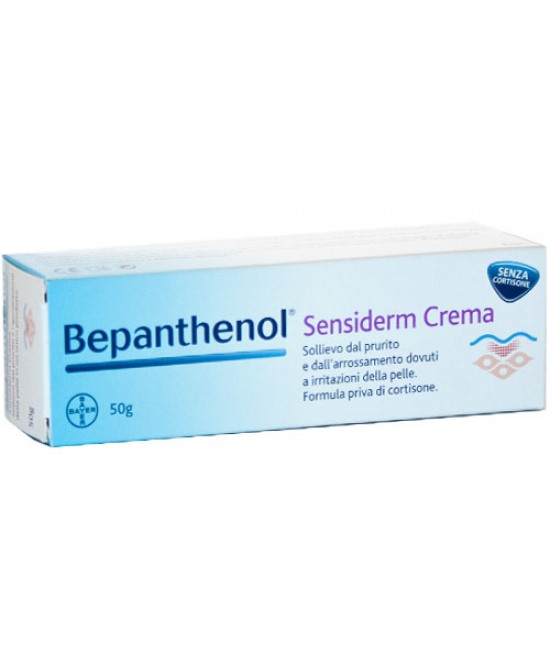 Bayer Bepanthenol Sensiderm Crema Sollievo Al Prurito 50g - Farmafamily.it