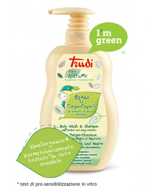 Trudi Baby Nature Bagno Detergente Protettivo Corpo Capelli 400 ml