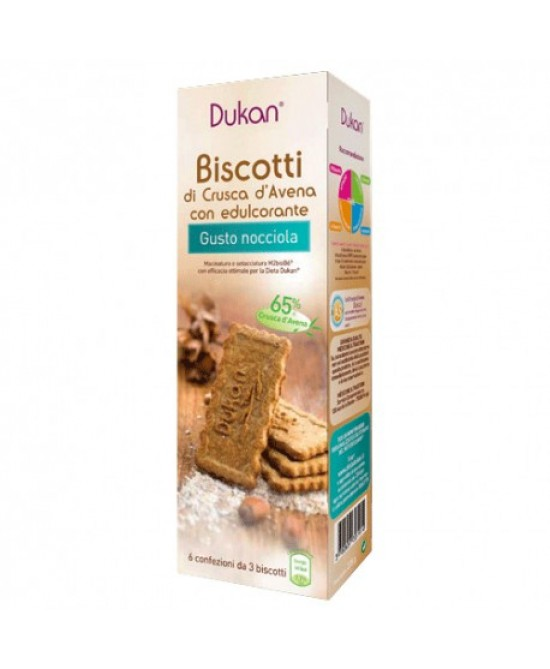 Dukan Biscotti Di Crusca D'Avena Con Nocciole 6x3 Biscotti - Farmabellezza.it
