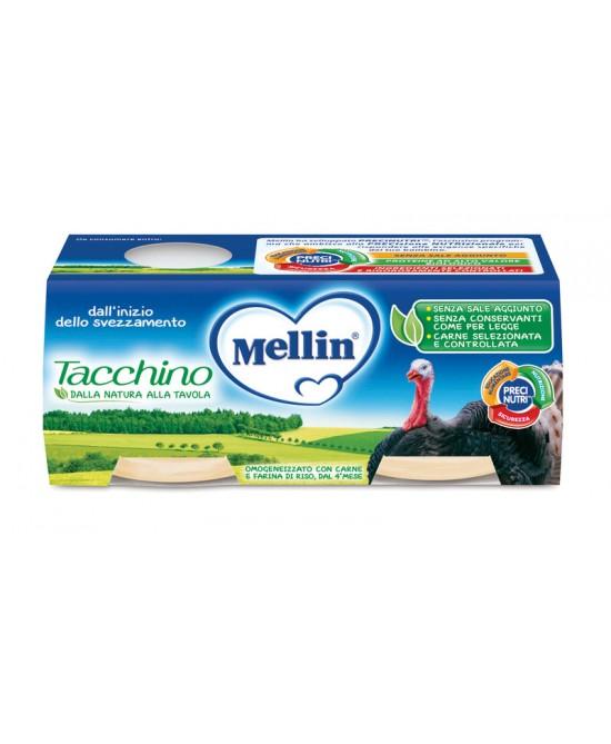 Mellin Omogeneizzati Di Carne Tacchino 4x80g - Farmapage.it