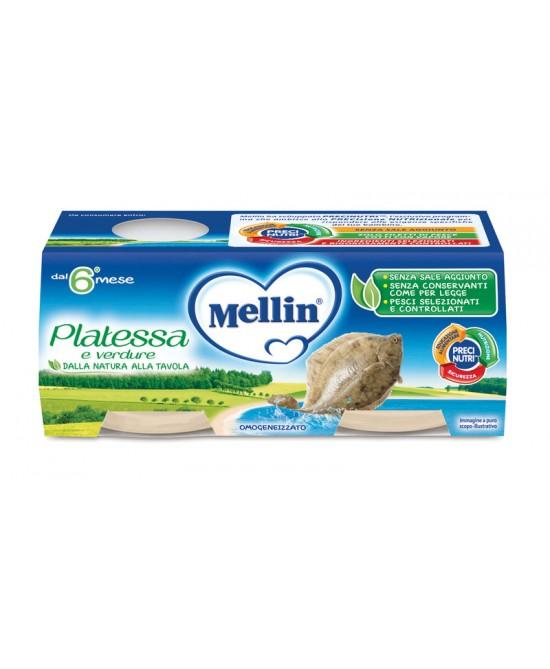 Mellin Omogeneizzati Di Pesce Platessa 2x80g - Farmia.it