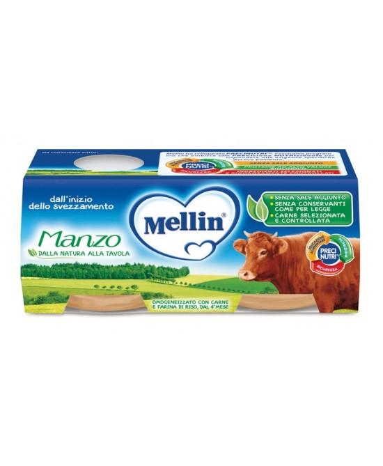 Mellin Omogeneizzati Di Carne Manzo 4x80g - Farmaci.me