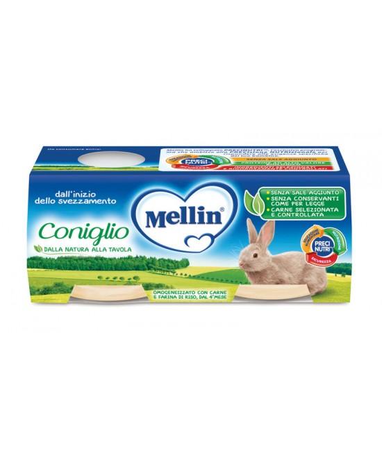 Mellin Omogeneizzati Di Carne Coniglio 4x80g - Farmapage.it