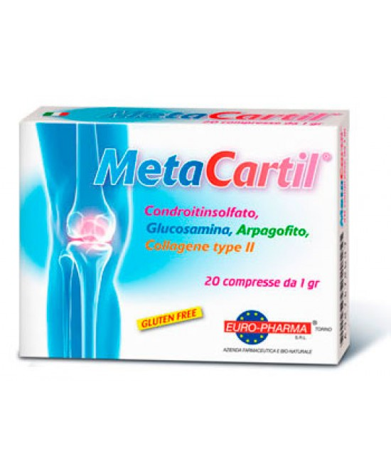 Metacartil Integratore Vitamine E Glucidi 20 Compresse