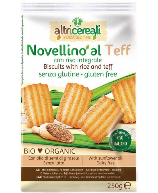 AltriCereali Novellino Al Teff Con Riso Integrale Bio Senza Glutine 250g - FARMAEMPORIO
