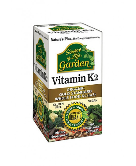 Nature's Plus Source Of Life Garden Vitamin K2 Integratore Alimentare 60 Capsule - farmaciadeglispeziali.it