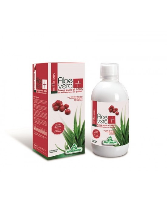 Specchiasol Succo Aloe Vera Con Mirtillo Rosso 1Litro - FARMAEMPORIO