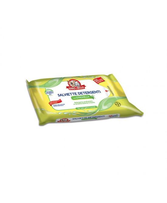 Sano E Bello Salviettine Detergenti Citronella Uso Veterinario 50 Salviette - Farmastar.it