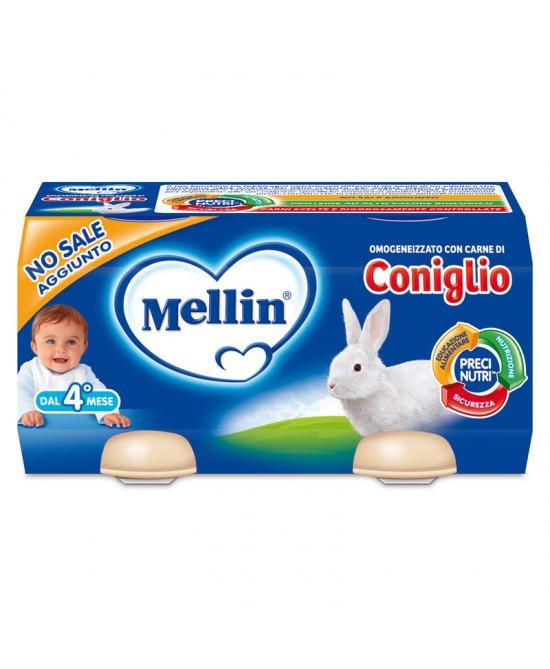 Mellin Omogeneizzati Carne Coniglio 2 x 80 g - Farmalilla