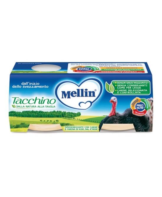 Mellin Omogeneizzati Carne Tacchino 2 x 80 g - Farmalilla