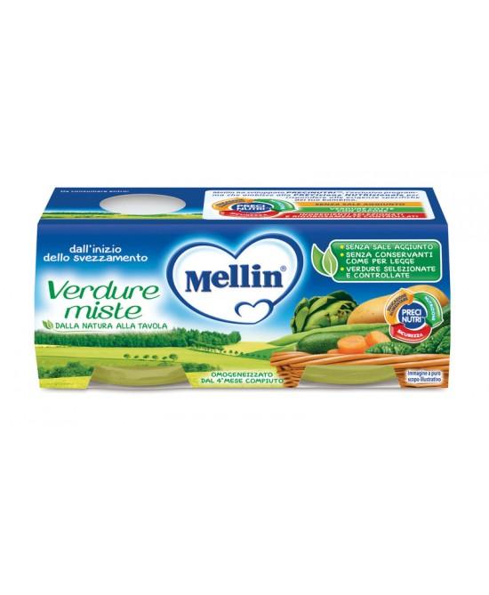 Mellin Omogeneizzati di Verdure Verdure Miste 2 x 80 g - Farmalilla