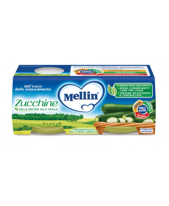 Mellin Omogeneizzati Di Verdure Zucchine 2x80g - Farmaunclick.it