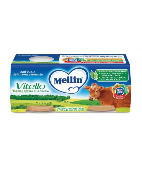 Mellin Omogeneizzati Di Carne Vitello 2x80g - Farmabros.it