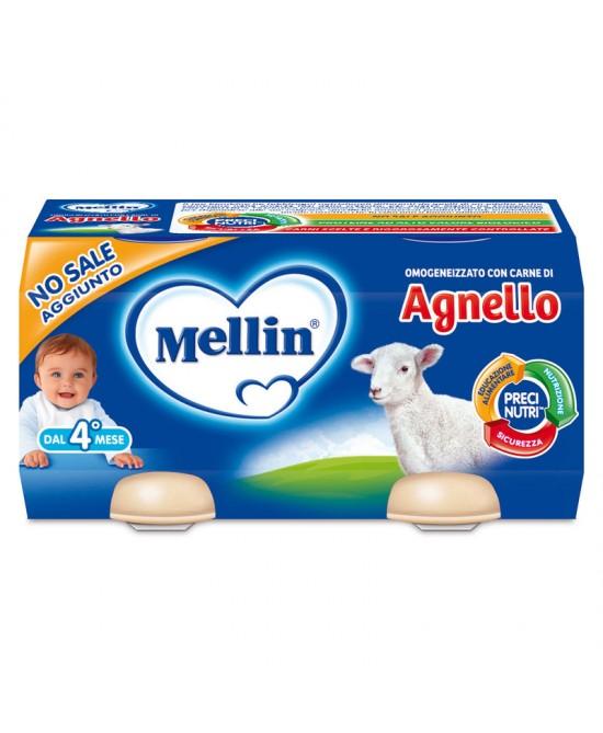 Mellin Omogeneizzati Carne Agnello 2 x 80 g - Farmalilla