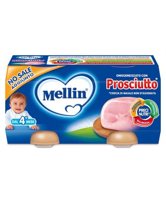 Mellin Omogeneizzati Carne Prosciutto 2 x 80 g - Farmalilla