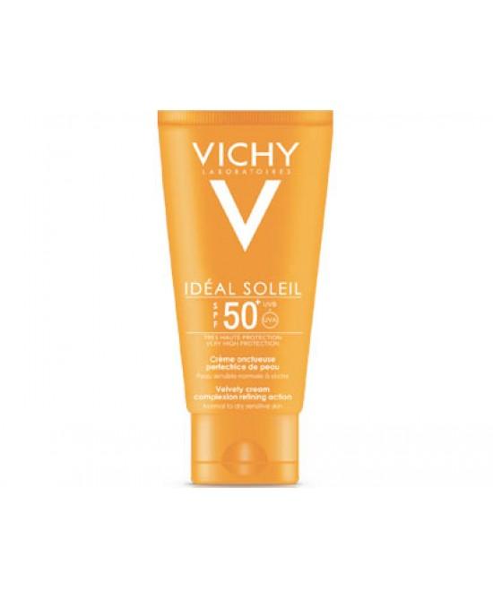 Vichy Ideal Soleil Crema Vellutata Perfezionatrice Di Pelle Spf 50+ Creme Solari - Protezione Viso 50ml - Antica Farmacia Del Lago