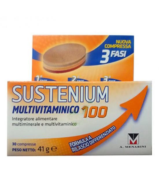Sustenium Multivitaminico 100 Integratore Alimentare 30 Compresse - Farmastar.it