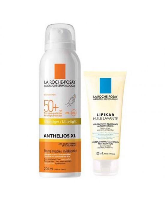 La Roche-Posay Anthelios XL Spray Invisibile SPF50+ Flacone 200ml + Promozione Lipikar Olio Detergente Flacone 100ml