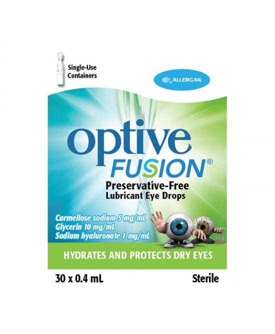 Optive Fusion UD Collirio 30 Flaconcini Monodose x0,4ml - Zfarmacia