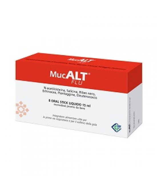 Mucalt Flu 8 Oral Stick Monod - Spacefarma.it