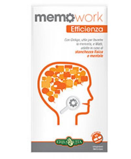 Erba Vita Memo Work Integratore Memoria 30 Capsule