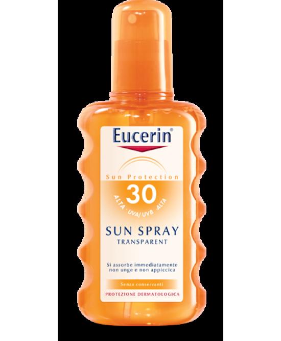 Eucerin Sun Spray Solare Trasparente FP 30 Pelle Normale o Grassa 200 ml