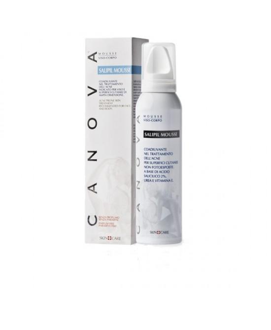 Canova Salipil Mousse Detergente Viso e Corpo Pelle Acneica 150 ml