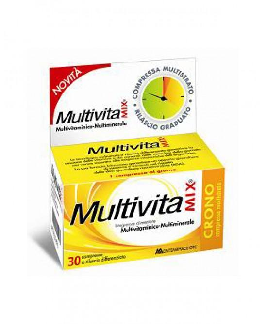 Multivitamix Crono Senza Zuccheri Integratore Alimentare 30 Compresse - La tua farmacia online