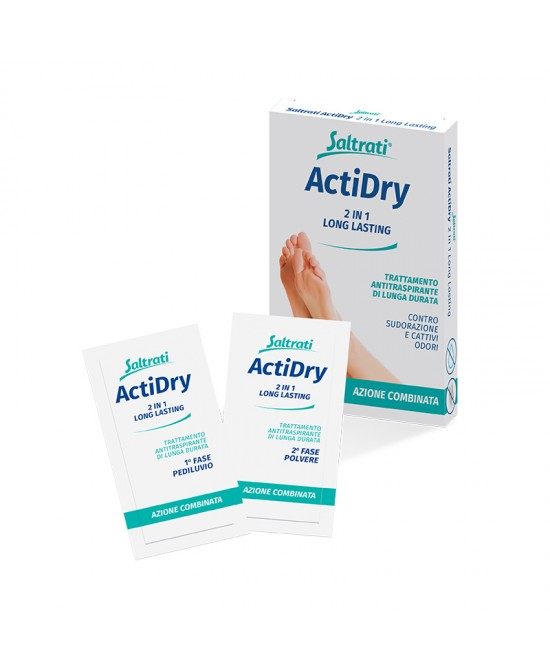 Saltrati ActiDry 2 In1 Long Lasting 2 Buste Monodose - Farmaci.me