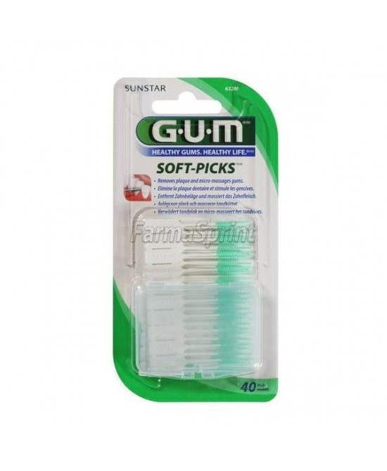 Gum Soft Picks Scovolino Gomma Large 40 Pezzi - Farmastar.it